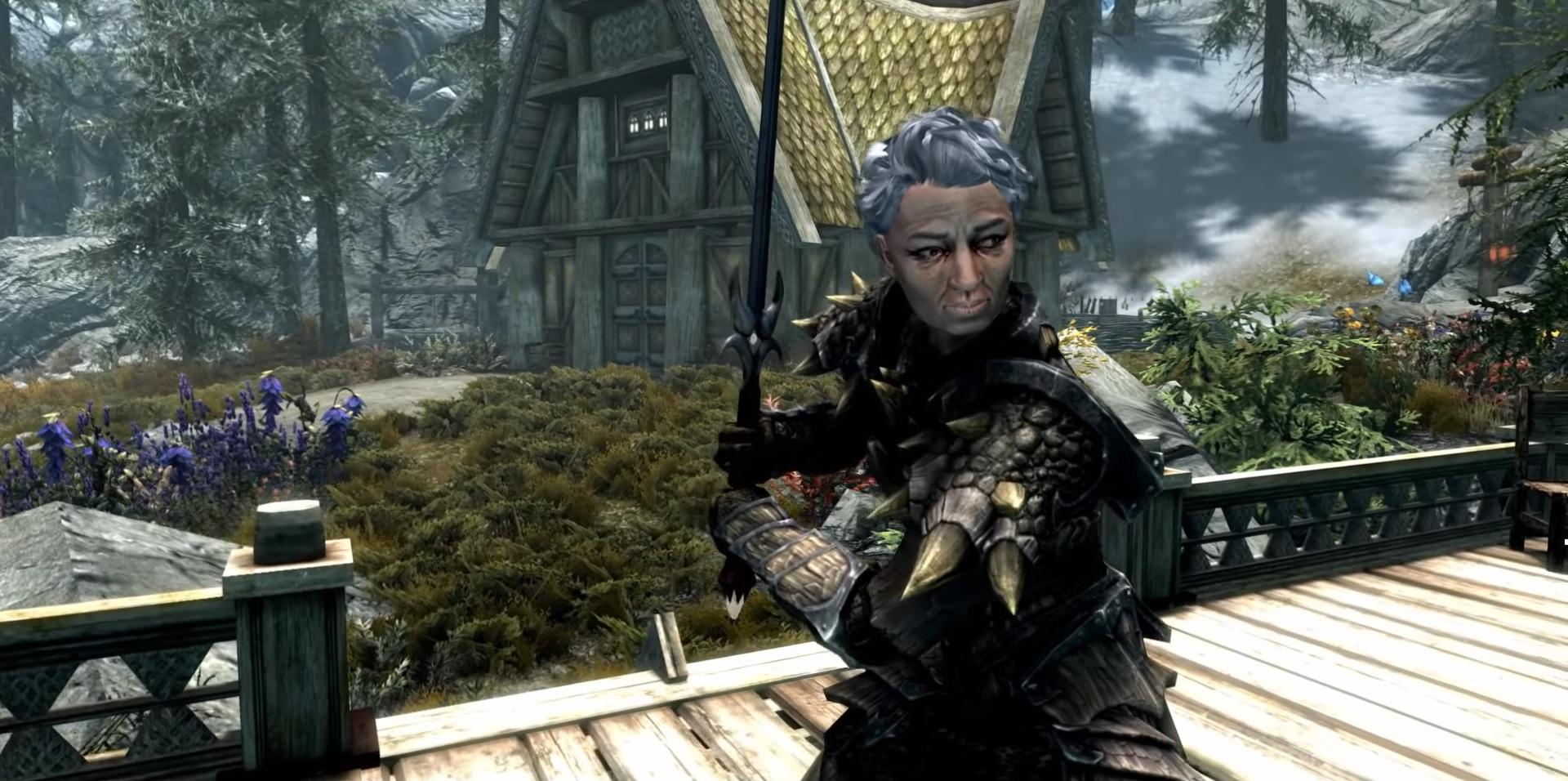 Une fan de Skyrim âgée de 85 ans a trouvé son chemin dans l'univers du jeu.