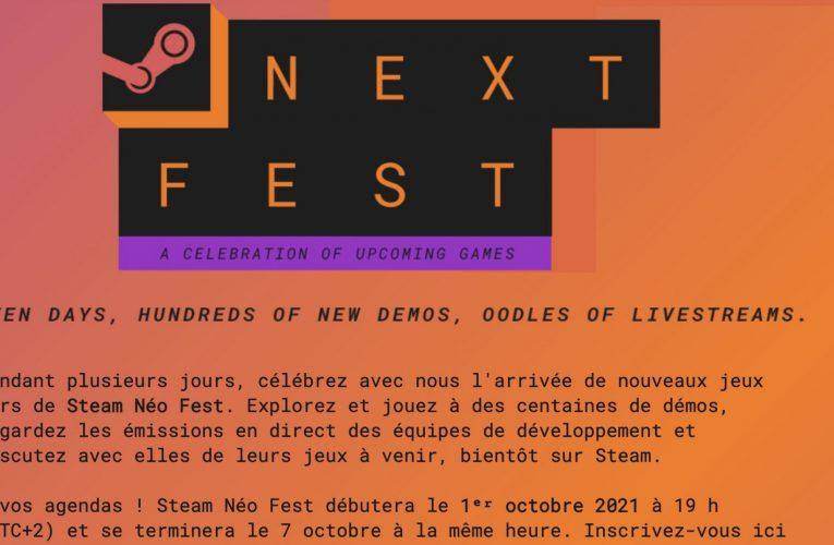 Steam Next Festival Le prochain festival a commencé. Plusieurs centaines de jeux à tester !
