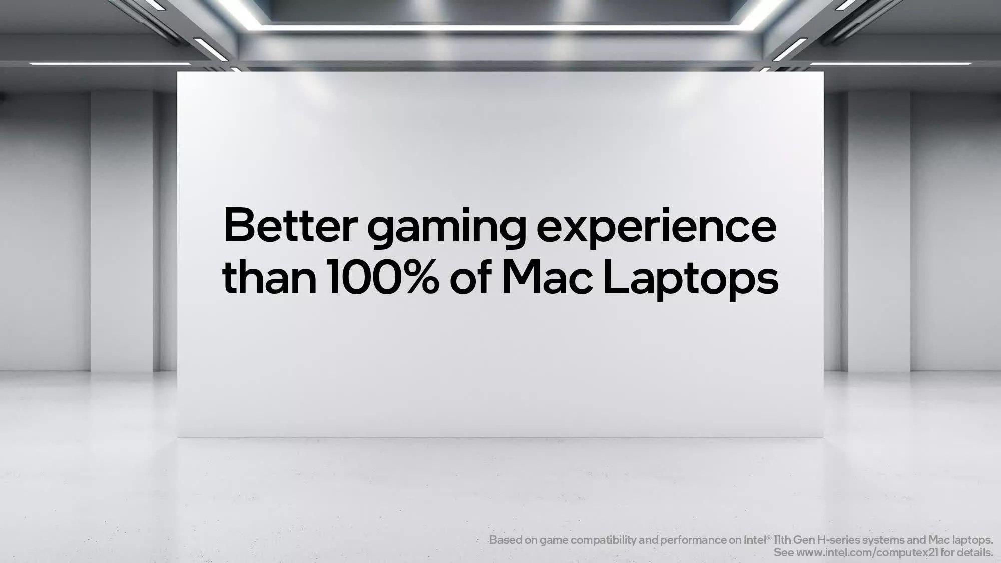 Intel : les ordinateurs Apple ne sont pas destinés aux jeux vidéo