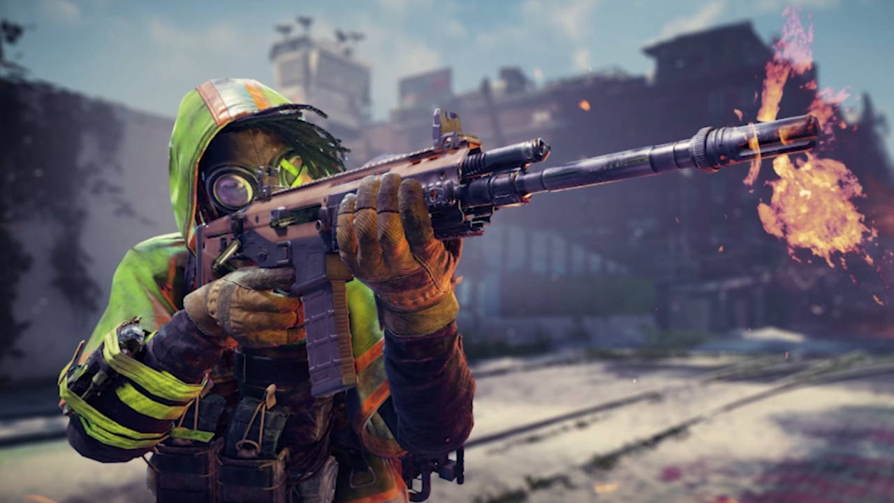 Tom Clancy's XDefiant - mężczyzna strzela z karabinu