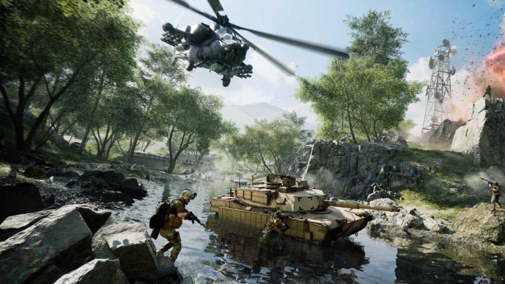 Battlefield 2042 - żołnierze i pojazdy podczas walki