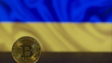 ukrajina bitcoin vlajka průzkum