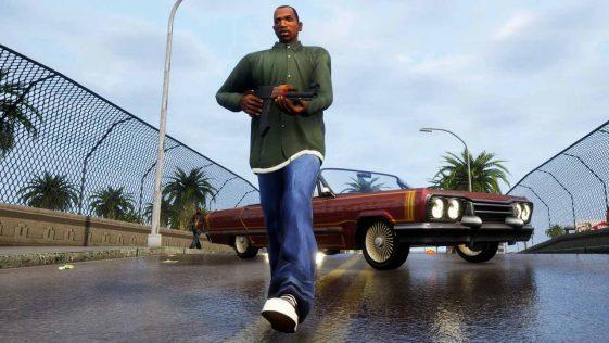 GTA Trilogy The Definitive Edition - zrzut ekranu z CJ'em