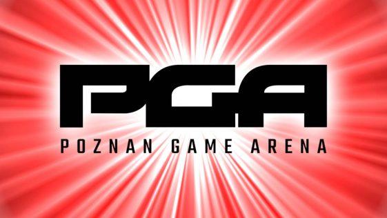PGA 2021 - czarne logo na czerwonym tle